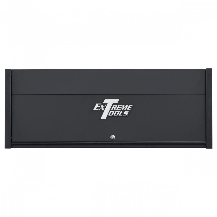 Extreme Tools RX 55 x 25 Power Workstation Hutch - RX552501HCMBBK-Closed-Lid