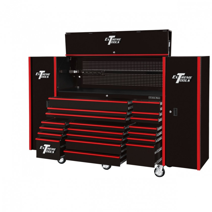 "72"" Tool Cabinet with Hutch and Side Lockers"
