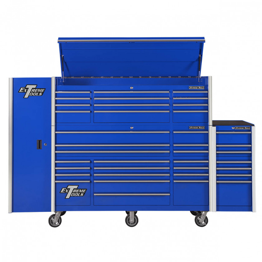 "72"" Roller Cabinet Top Chest Side Locker Side Box Combo"
