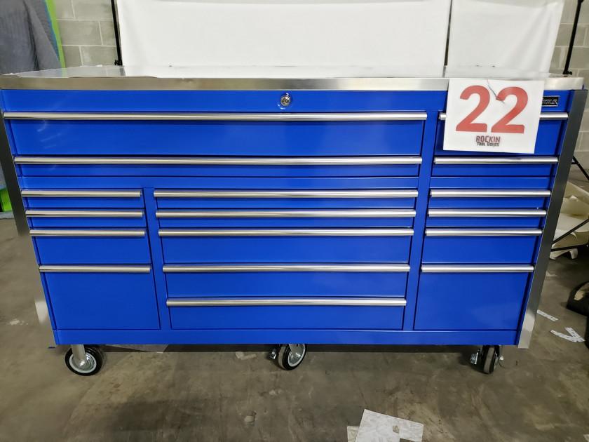 "Scratch & Dent 72"" 17 Drawers Roller Cabinet"