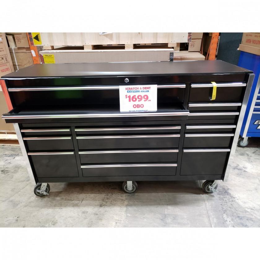 "Scratch & Dent 72"" 16 Drawers Roller Cabinet"