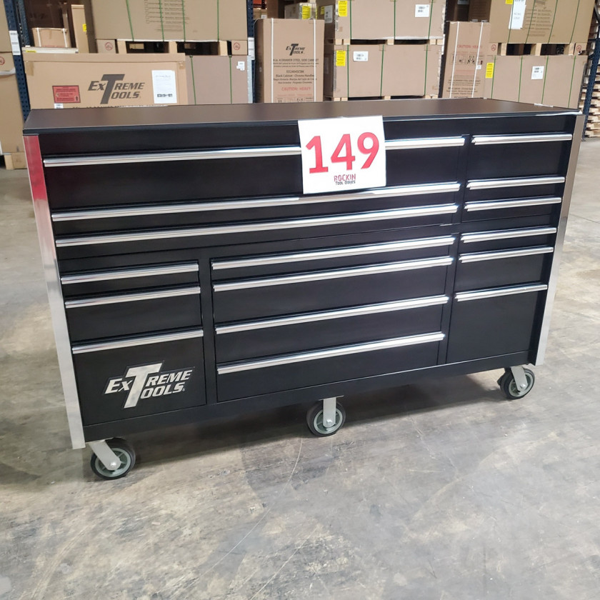 SD-RX722516RCBK _ Scratch & Dent - Extreme Tools 72in. 16 Drawers Roller Cabinet _ Black with Chrome_05