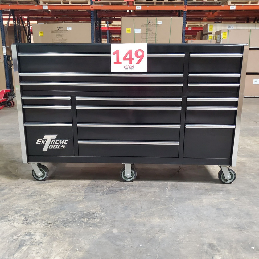 SD-RX722516RCBK _ Scratch & Dent - Extreme Tools 72in. 16 Drawers Roller Cabinet _ Black with Chrome_06