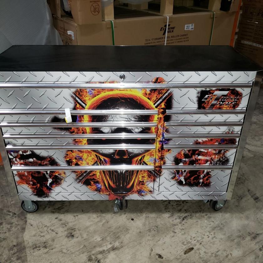 "Scratch & Dent 56"" 11 Drawers Roller Cabinet"