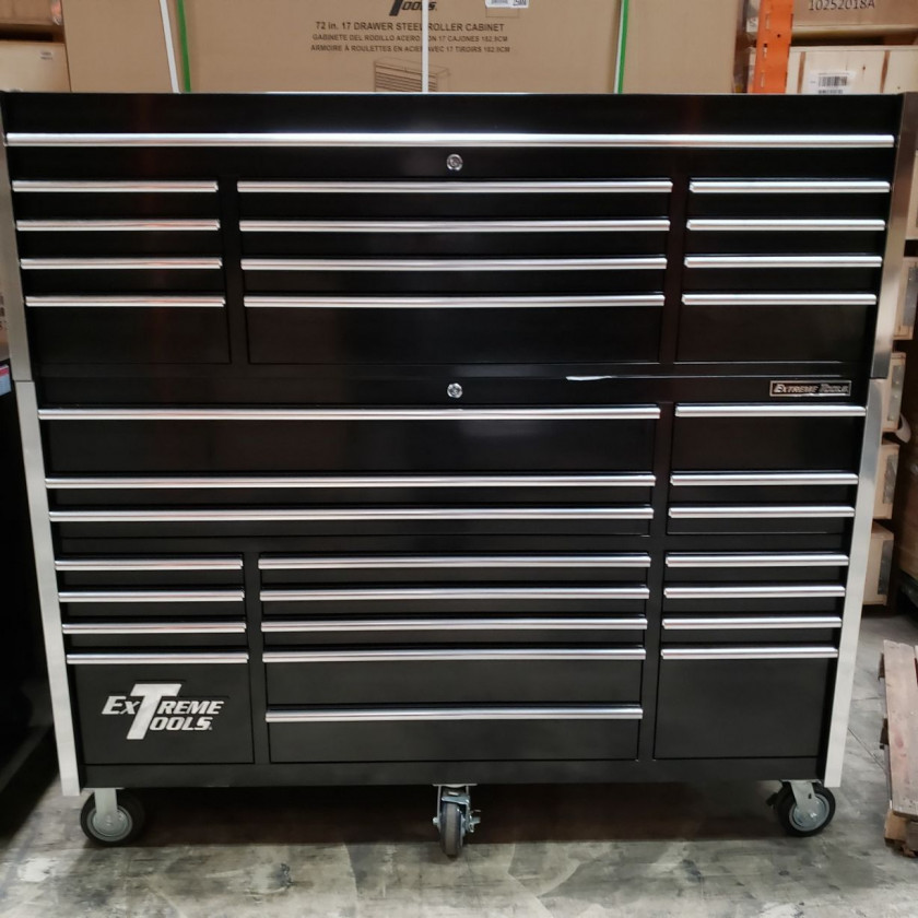"""Scratch & Dent 72"""" Combo 19 Drawers Roller & 12 Drawers Top Chest"""