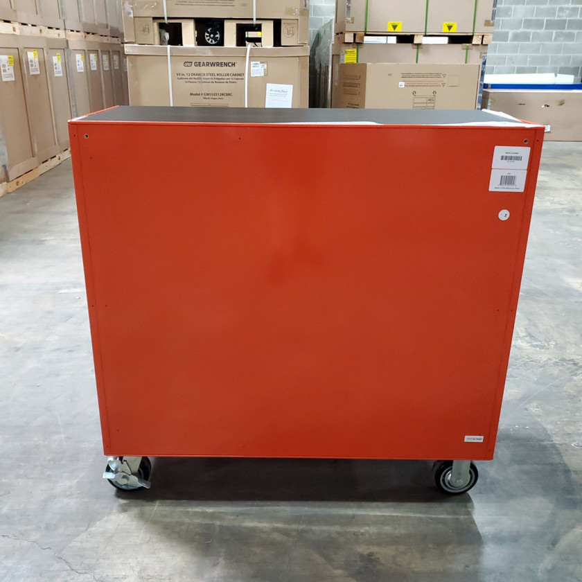 Scratch and Dent _ SD-EX4111RCOR _ Extreme Tools 41 in. 11 Drawer Roller Cabinet, Orange with Chrome Handles_04