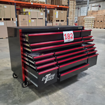 SD-RX722519RCBKRD - Showroom Demo - Extreme Tools RX Series 72 in. x 25 in. 19 Drawers Roller Cabinet, Orange, 150 lbs. Slides - Black-Red_16