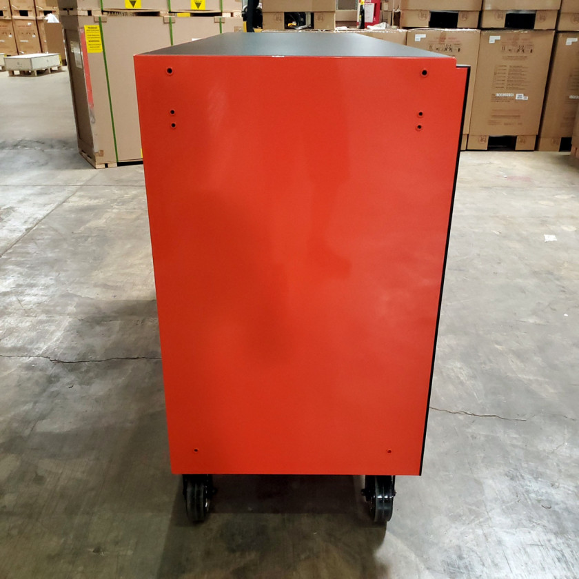 SD-RX722519RCORBK - Scratch & Dent - Extreme Tools RX Series 72 in. x 25 in. 19 Drawers Roller Cabinet, Orange, 150 lbs. Slides - Orange_05