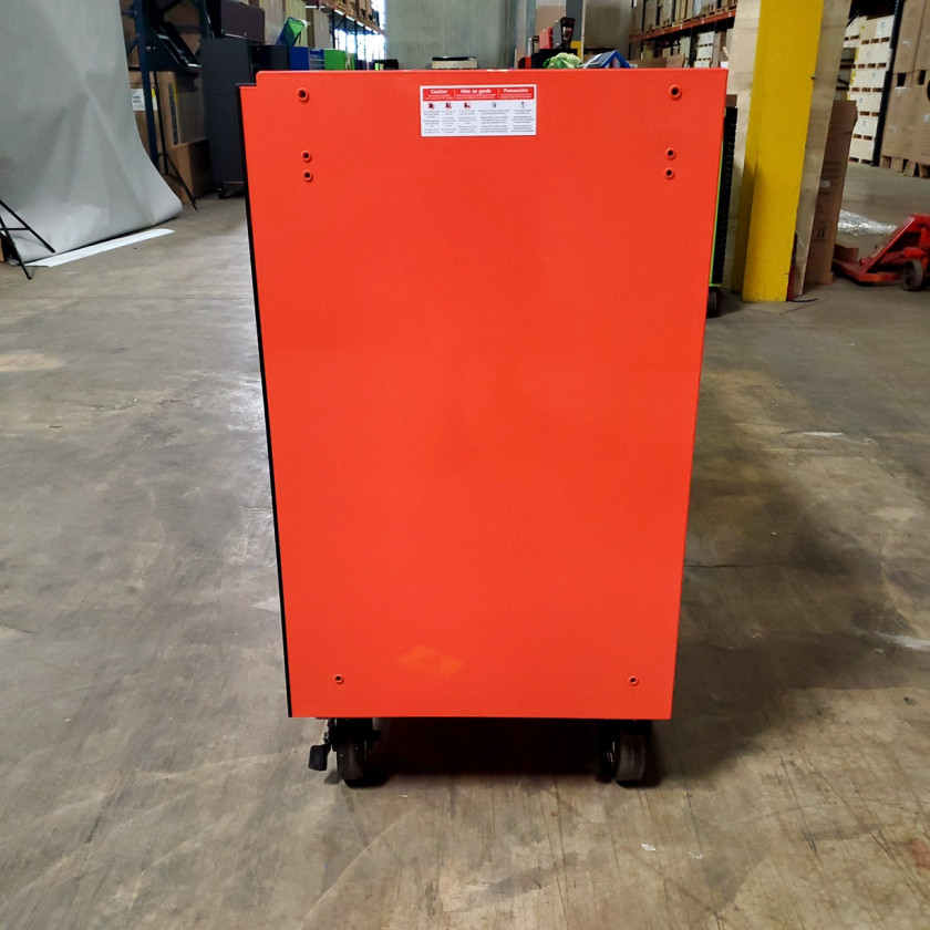 SD-RX722519RCORBK - Scratch & Dent - Extreme Tools RX Series 72 in. x 25 in. 19 Drawers Roller Cabinet, Orange, 150 lbs. Slides - Orange_08