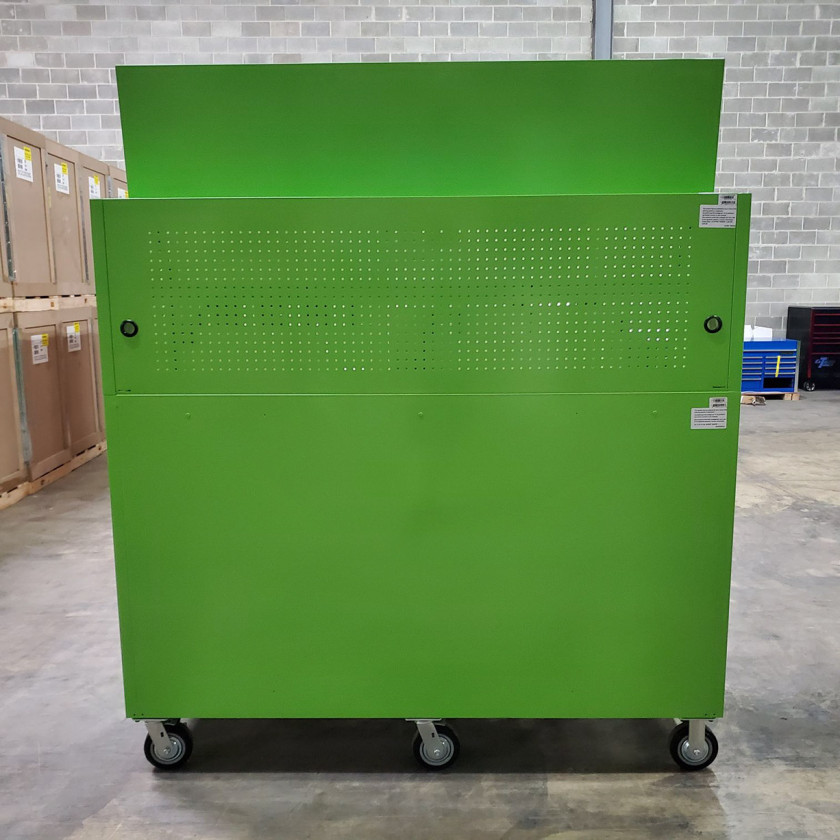 Showroom Demo Extreme Tools 72in. x 25in. Roller and Hutch Combo - Green-08