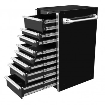 GW192508SBBKR-SLIDES-GearWrench 19in 7 drawer Side Box - Black with Chrome