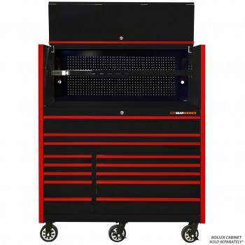 GW552501HCBKR-GW552512RCBKR- Gearwrench 55inch Power Hutch with 55 inch Roller Cabinet Combo