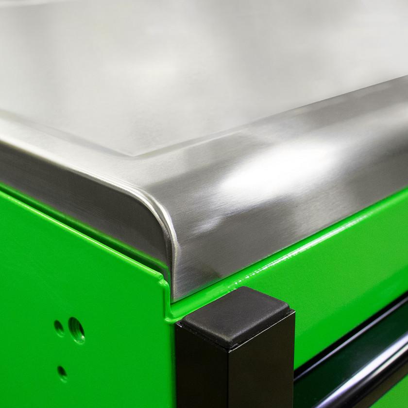 EX7217RCQGNBK Green Stainless Steel Top- Close Up Shot