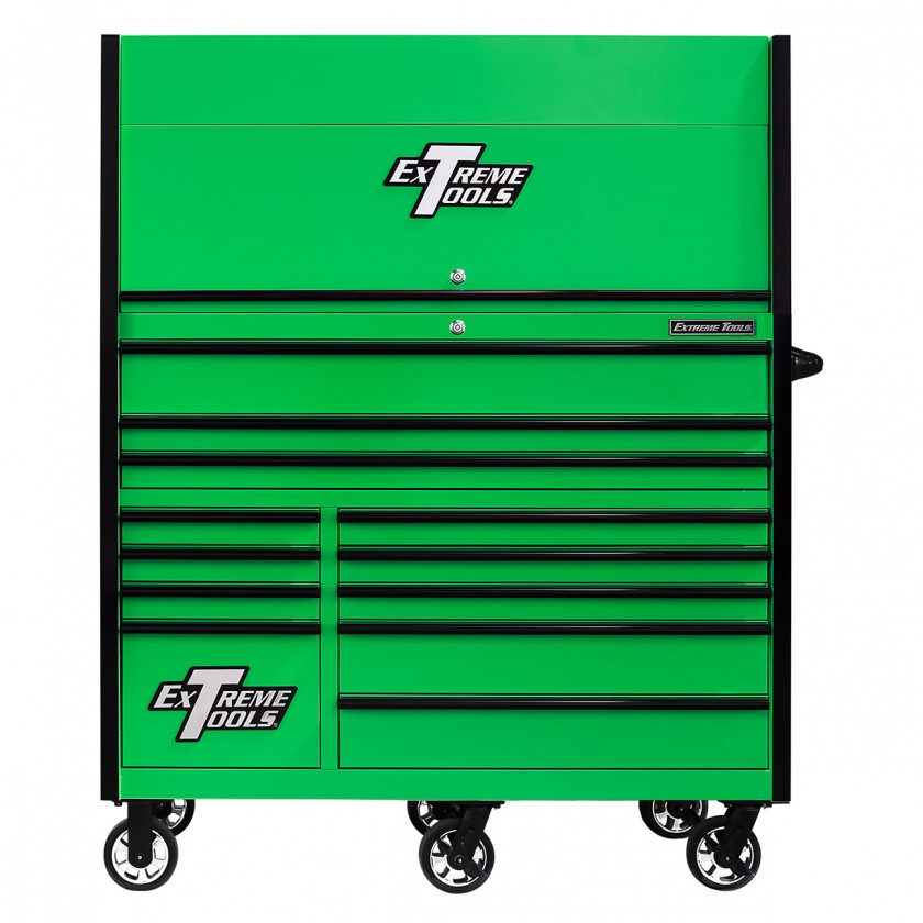 RX552513HRGNBK-X -55 x 25 inch Roller and Power Workstation Hutch with Closed Lid - Green-Black