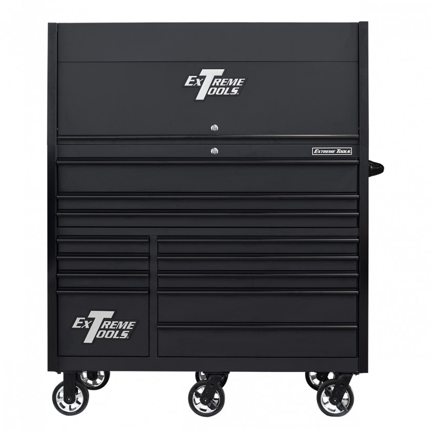 RX552513HRMBBK-X -55 x 25 inch Roller and Power Workstation Hutch with Closed Lid - Matte Black